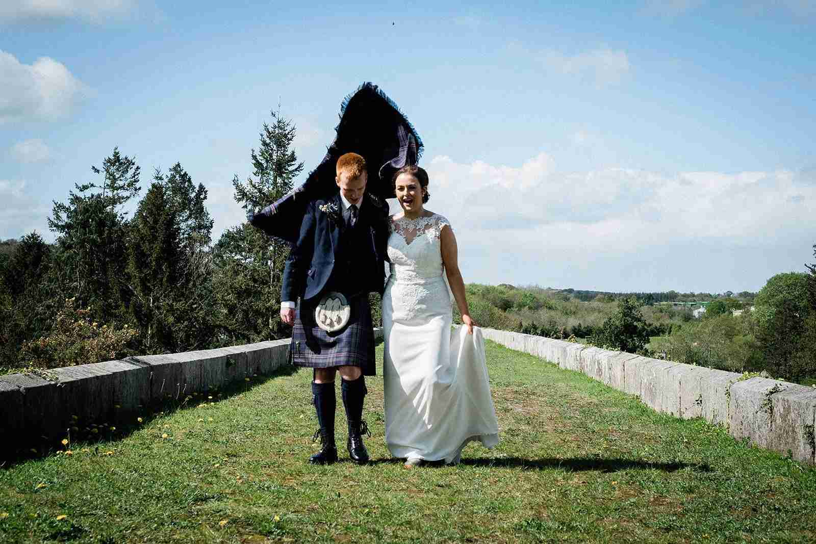 A wedding portrait in Ireland