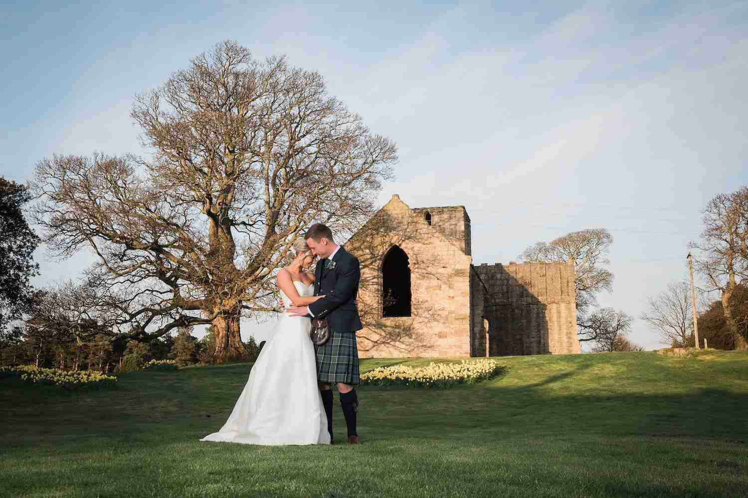 Wedding portrait - Dunglass estate