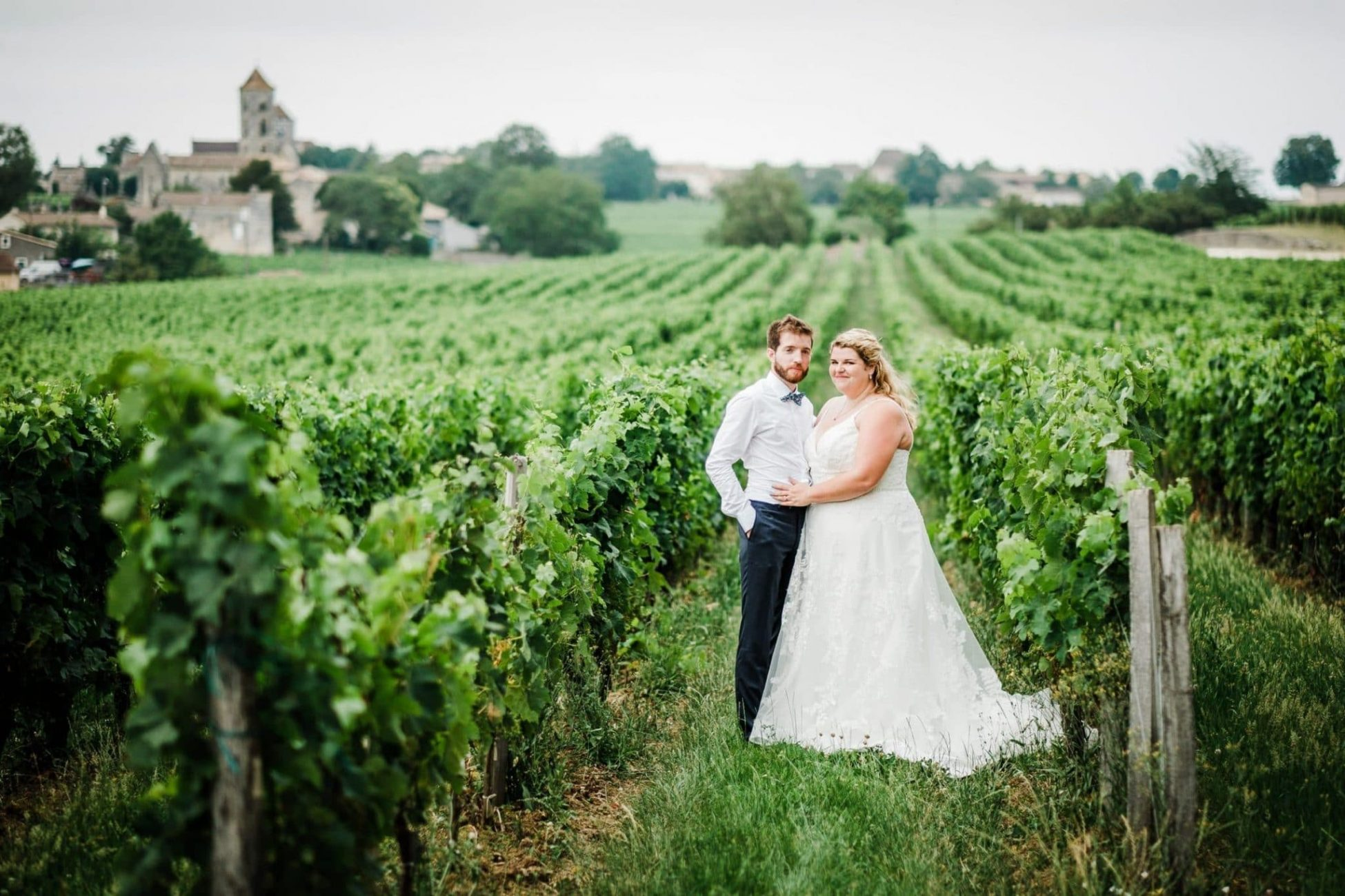 A wedding portrait at Chateu St Georges, France