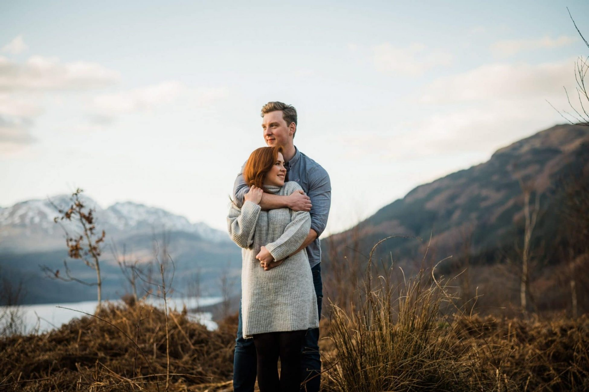 an engagement portrait at Ben Lomond