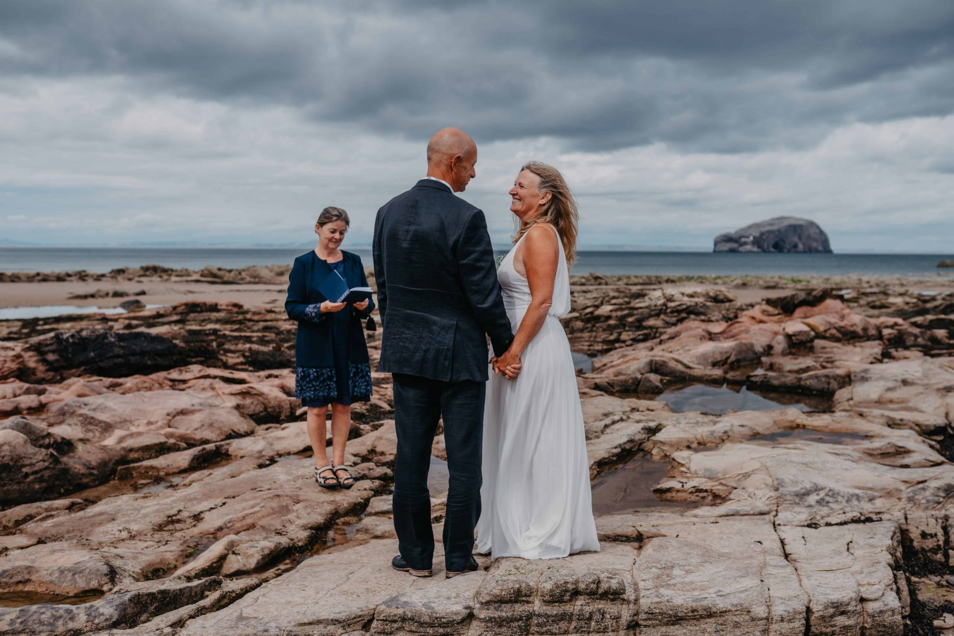 Elopement on a beach in Scotland