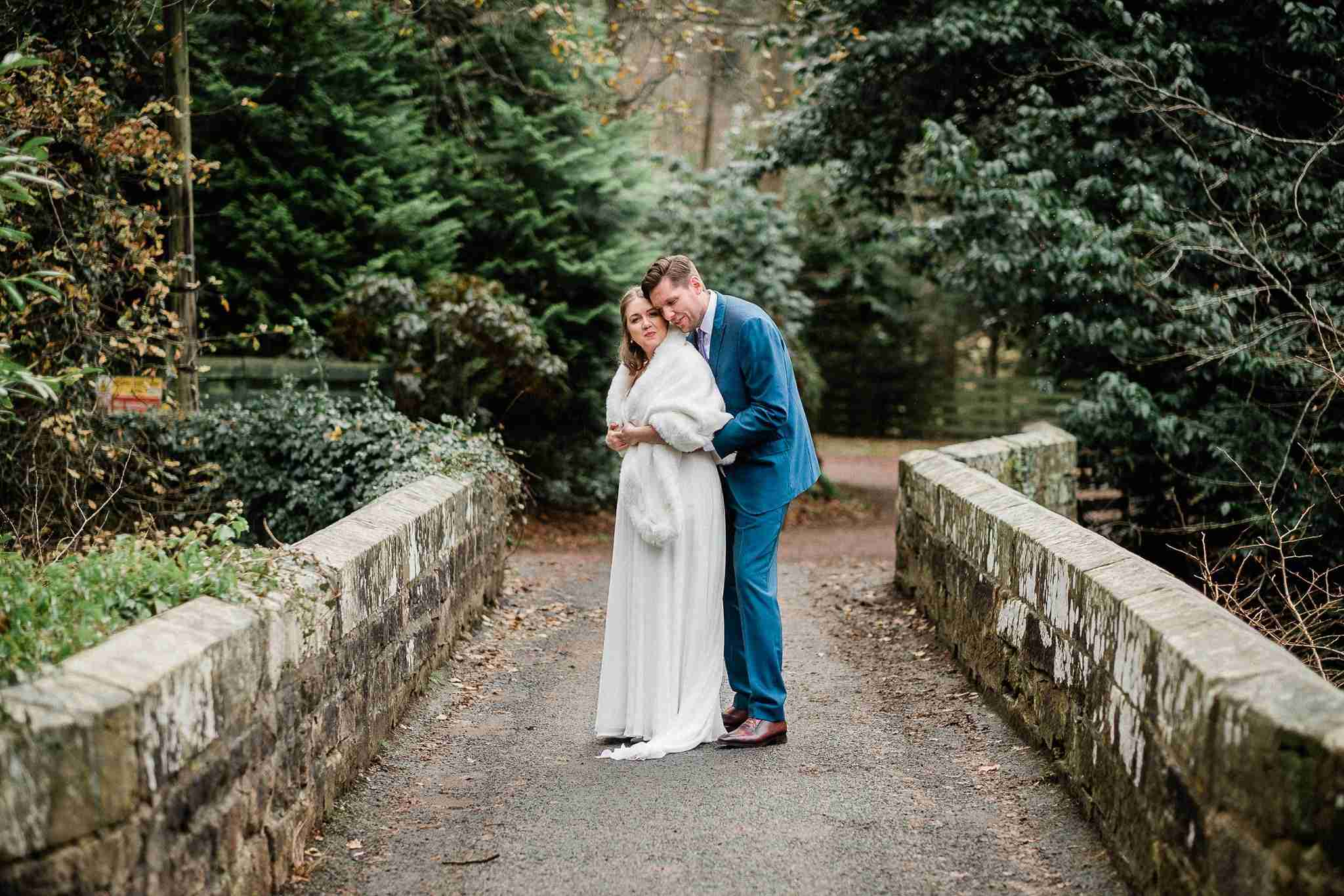 Wedding portrait - O + D, Dalhousie Castle, Edinburgh