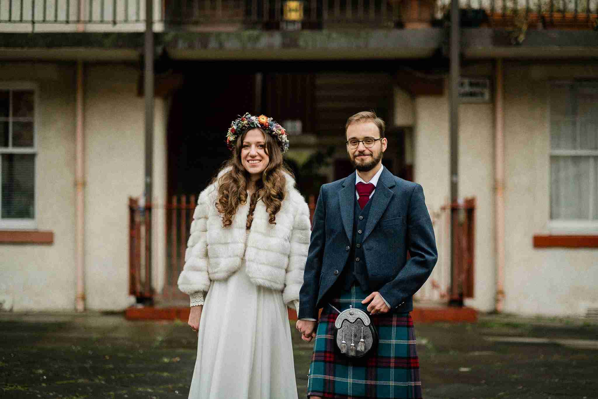 Julia + Sam – an Edinburgh City Chambers micro wedding